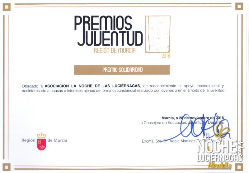 Premio Juventud a la Solidaridad 2018